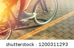 unrecognizable cyclist in... | Shutterstock . vector #1200311293