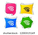wifi wireless network icons. wi ... | Shutterstock .eps vector #1200315169
