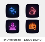 neon glow lights. set of... | Shutterstock .eps vector #1200315340