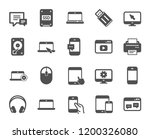 mobile devices icons. set of... | Shutterstock .eps vector #1200326080