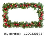 christmas decorative background ... | Shutterstock . vector #1200330973