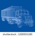 logistic by container truck.... | Shutterstock .eps vector #1200331180