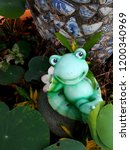 Lotus Leaf And Frog Statue