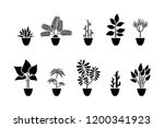 home flowers icon set. black... | Shutterstock .eps vector #1200341923