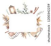 watercolor gold and beige...   Shutterstock . vector #1200342259