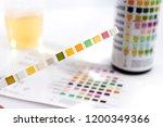 test tires with test chart and... | Shutterstock . vector #1200349366