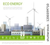 realistic eco energy colorful... | Shutterstock .eps vector #1200359710