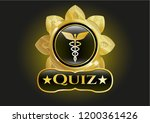 golden badge with caduceus... | Shutterstock .eps vector #1200361426