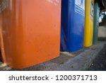 4 color bins | Shutterstock . vector #1200371713