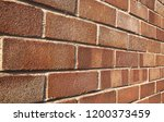 a close up of a red brick wall... | Shutterstock . vector #1200373459