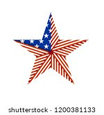 american star folded from the... | Shutterstock .eps vector #1200381133