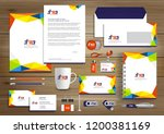 corporate identity business ... | Shutterstock .eps vector #1200381169