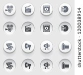 audio video icons on white... | Shutterstock .eps vector #120038914