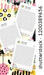 trendy editable template for... | Shutterstock .eps vector #1200389656