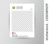 trendy editable template for... | Shutterstock .eps vector #1200389659