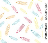 the colorful pencil seamless... | Shutterstock .eps vector #1200392230