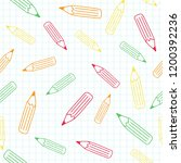 the colorful pencil seamless... | Shutterstock .eps vector #1200392236