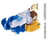 colorful oil paint brush... | Shutterstock . vector #1200393283