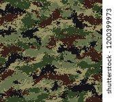 digital summer camouflage.... | Shutterstock .eps vector #1200399973