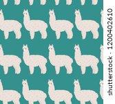 cute furry alpaca. vector...   Shutterstock .eps vector #1200402610