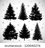 vector drawing of six black... | Shutterstock .eps vector #120040276