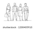 continuous line drawing of... | Shutterstock .eps vector #1200405910