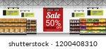 promotion sign in modern... | Shutterstock .eps vector #1200408310