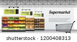 modern supermarket with... | Shutterstock .eps vector #1200408313