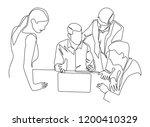 continuous line drawing of an... | Shutterstock .eps vector #1200410329