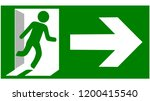 emergency fire exit sign show... | Shutterstock .eps vector #1200415540