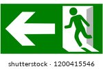 emergency fire exit sign show... | Shutterstock .eps vector #1200415546