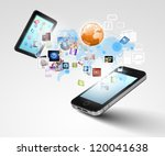 modern communication technology ... | Shutterstock . vector #120041638