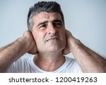 portrait of an attractive man... | Shutterstock . vector #1200419263