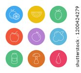 set of 9 icons  for web ...   Shutterstock .eps vector #1200424279