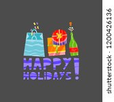 christmas and new year elements ... | Shutterstock .eps vector #1200426136