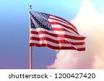 us flag   national symbol. | Shutterstock . vector #1200427420