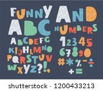 funny colorful english alphabet ... | Shutterstock .eps vector #1200433213