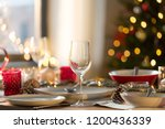 christmas  holidays and table... | Shutterstock . vector #1200436339