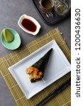 soft shell crab temaki japanese ... | Shutterstock . vector #1200436630