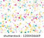 memphis round confetti airy...   Shutterstock .eps vector #1200436669