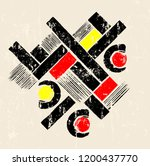 abstract geometric art in the... | Shutterstock .eps vector #1200437770