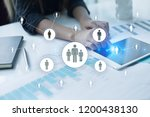 hr human resources management....   Shutterstock . vector #1200438130