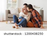 family  parenthood and people... | Shutterstock . vector #1200438250