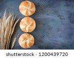 crusty round bread rolls  known ... | Shutterstock . vector #1200439720
