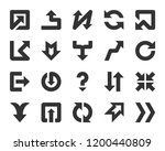arrow glyph icons set. outline... | Shutterstock .eps vector #1200440809