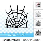 spider web thin line icon.... | Shutterstock .eps vector #1200440830