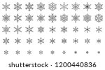 snowflake thin line icons set.... | Shutterstock .eps vector #1200440836