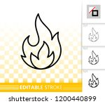 fire thin line icon. outline... | Shutterstock .eps vector #1200440899