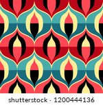seamless retro pattern in the... | Shutterstock .eps vector #1200444136