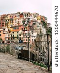 colorful houses in manarola... | Shutterstock . vector #1200444670